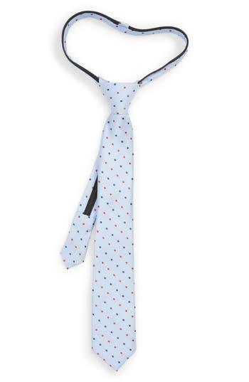Boys Nordstrom Double Dot Silk Zip Tie Size Little Boy  Blue