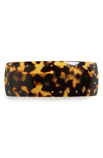 France Luxe Studded Rectangle Volume Barrette