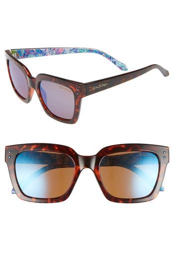 Lilly Pulitzer Celine 54mm Polarized Square Sunglasses