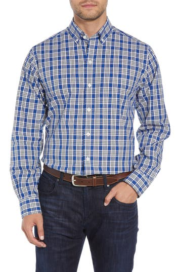 Cutter & Buck Harris Regular Fit Non-Iron Plaid Sport Shirt
