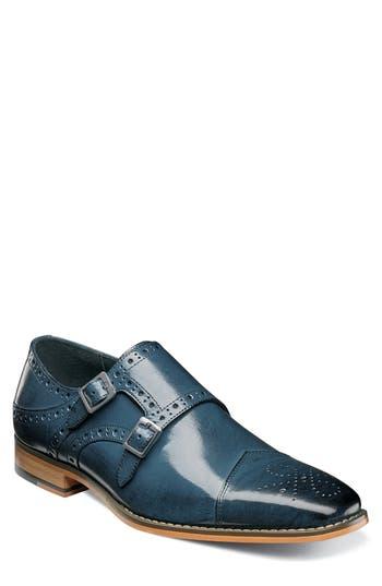 Stacy Adams Tayton Cap Toe Double Strap Monk Shoe