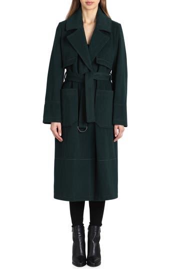 Badgley Mischka Wool Blend Trench Coat