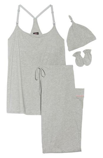 Women's Cosabella Bella 4-Piece Maternity/nursing Pajama Gift Set, Size Small - Grey