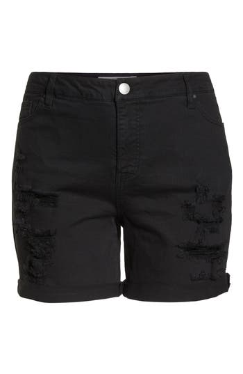 Ripped Bermuda Shorts
