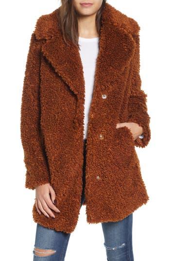 kensie Faux Shearling Coat