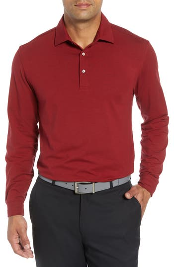 BOBBY JONES 'LIQUID COTTON' LONG SLEEVE JERSEY POLO