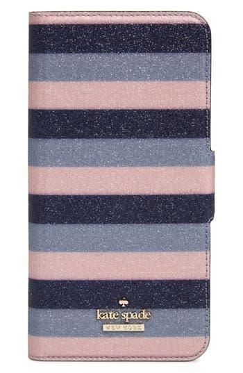 kate spade new york stripe iPhone 7/8 & 7/8 Plus folio case
