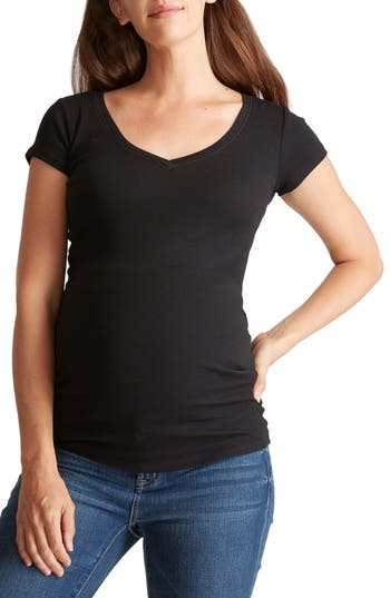 Ingrid & Isabel® V-Neck Short Sleeve Maternity Tee