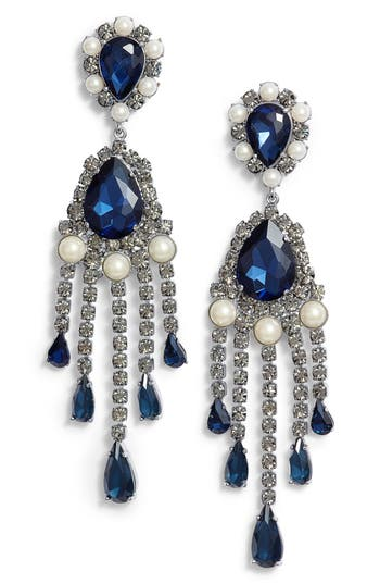 kate spade new york fringe drop earrings