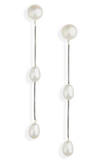 Sophie Buhai Imitation Pearl Linear Drop Earrings