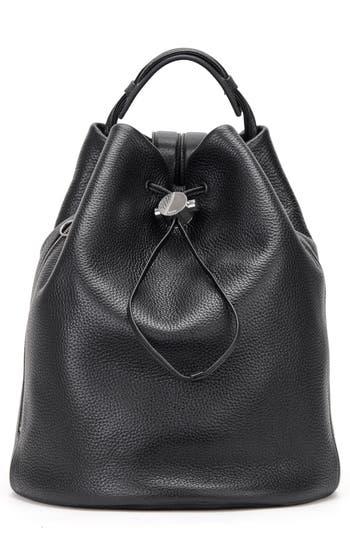 Kara Moon Drawcord Leather Backpack