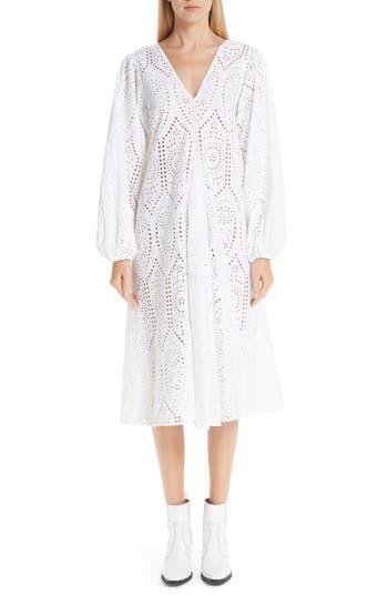 Ganni Falcon Eyelet Dress