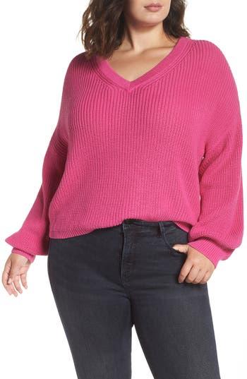 BP. V Neck Cotton Sweater