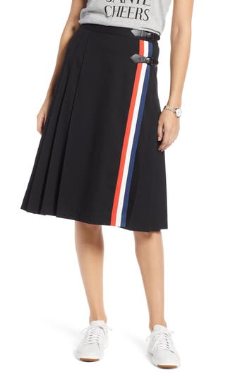 1901 Buckle Front A-Line Skirt