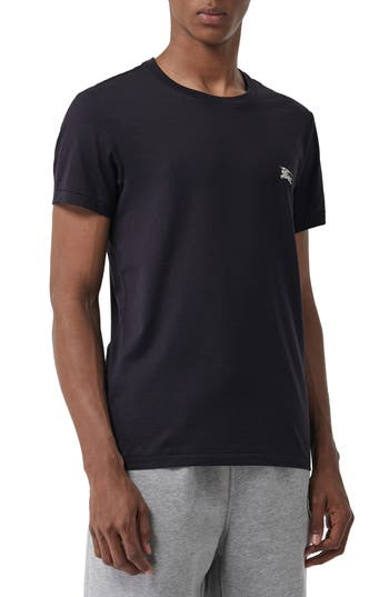 Burberry Logo Embroidered Crewneck T-shirt.