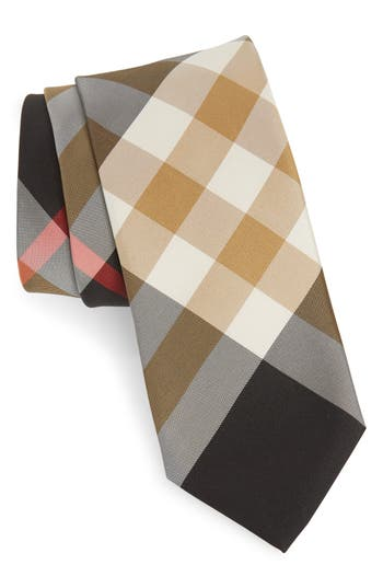 Burberry Manston Check Silk Blend Tie