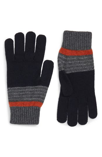 Ted Baker London Striped Knit Gloves