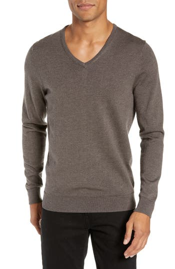 Nordstrom Men's Shop V-Neck Merino Wool Sweater