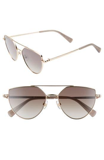 Rebecca Minkoff Stevie2 55mm Aviator Sunglasses