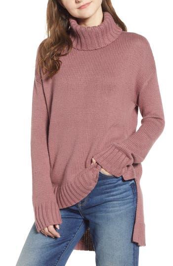 Halogen® High/Low Turtleneck Sweater