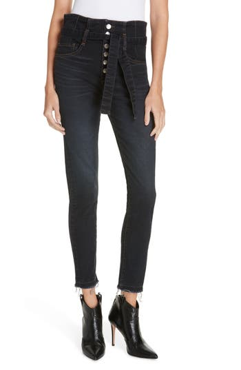 Veronica Beard Keith Corset Waist Skinny Jeans