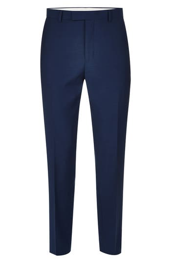 Topman Casely Hayford Skinny Fit Suit Trousers