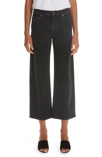 Khaite Wendell Wide Leg Crop Jeans