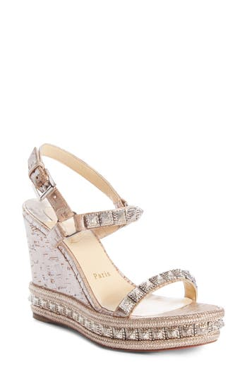 Christian Louboutin Pyradiams Cork Wedge Sandal