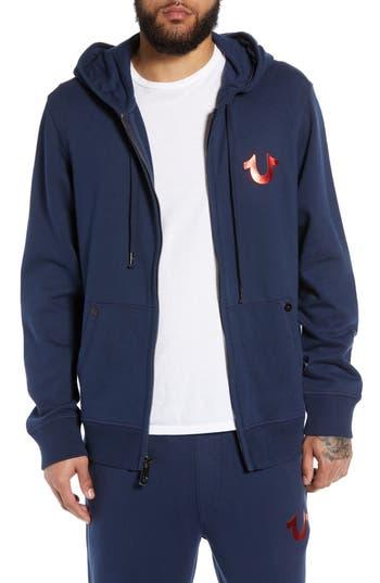 True Religion Brand Jeans World Tour Foil Buddha Zip Front Hoodie