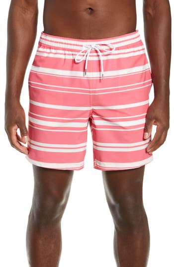 Bonobos Banzai 7-Inch Stripe E-Waist Swim Trunks