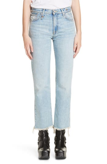 R13 Bowie Fray Hem Jeans