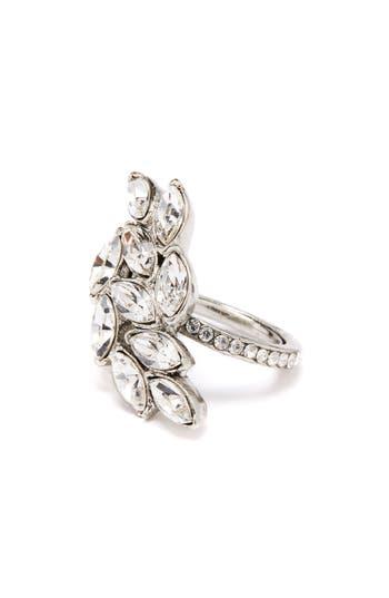 Oscar de la Renta Navette Crystal Cocktail Ring