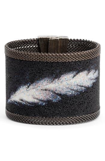Cynthia Desser Feather Swarovski Crystal Bracelet