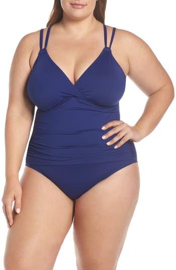 La Blanca Surplice One-Piece Swimsuit