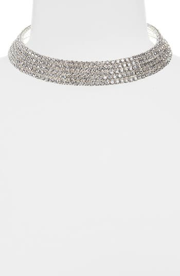 Leith Crystal Collar Necklace
