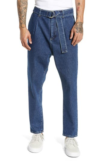 Topman Self Belt Denim Pants