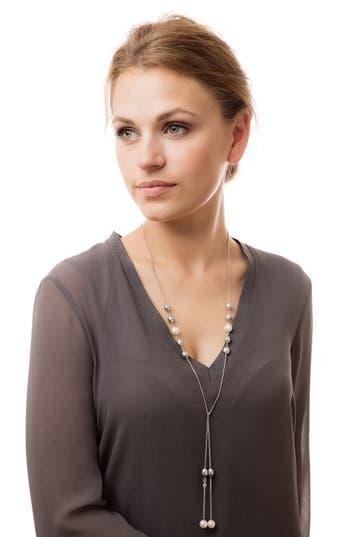 Claudia Bradby Ombré Pearl Lariat Necklace