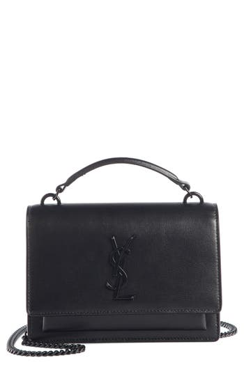 Saint Laurent Top Handle Sunset Wallet on a Chain