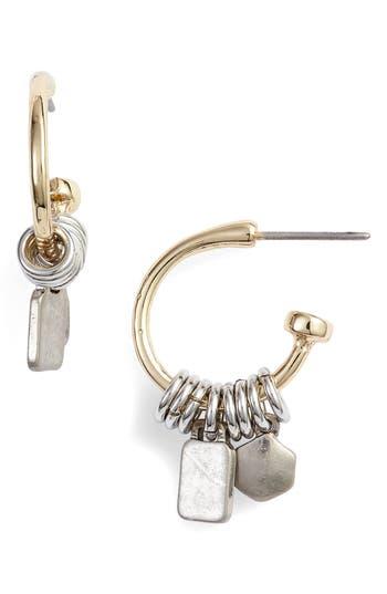 Treasure & Bond Two-Tone Huggie Hoop Earrings