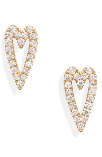 Bony Levy Diamond Open Heart Earrings