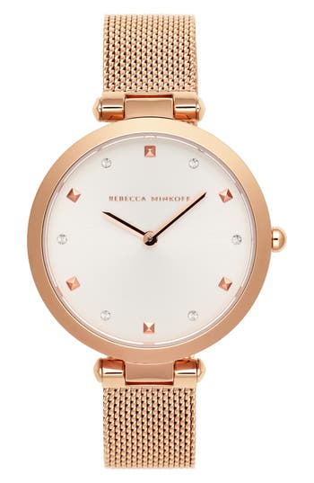 Rebecca Minkoff Nina Mesh Strap Watch, 33mm