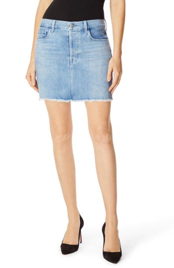 J Brand Bonny Mid Rise Denim Miniskirt