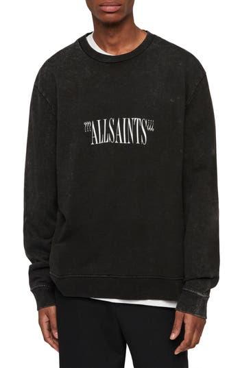ALLSAINTS Brackets Logo Graphic Fleece Sweatshirt