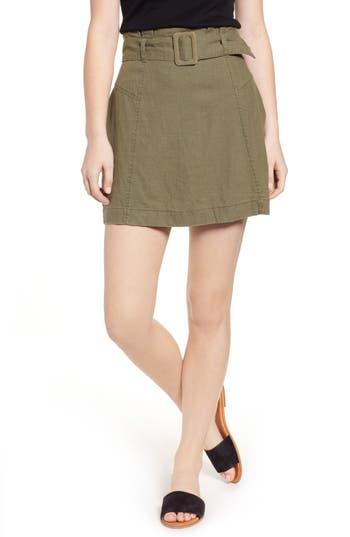 BP. Belted Linen Blend Miniskirt