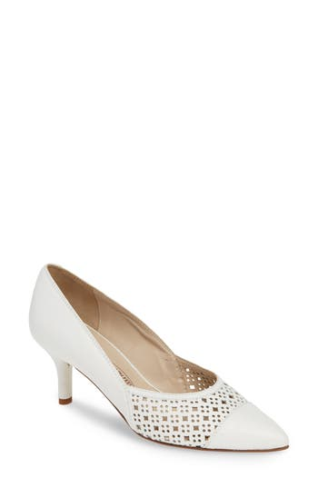 Amalfi by Rangoni Pinza Perforated Pointy Toe Pump (Women)