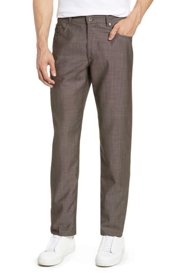 Brax Cooper Five Pocket Solid Wool Trousers