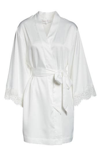 Homebodii Juliette Short Satin Charmeuse Robe
