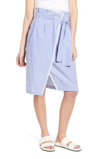 Scotch & Soda Wrapover Paperbag Waist Pencil Skirt