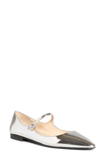 Prada Pointy Toe Mary Jane Flat (Women)