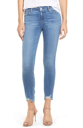 PAIGE Verdugo Distressed Ankle Skinny Jeans (North Star)